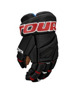 Code 1 Hockey Glove - Black/Red