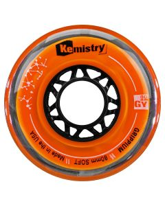 Kemistry GRIPPIUM inline roller hockey wheels – Orange SOFT - available in 72, 76, or 80 mm