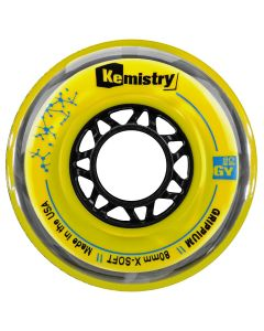 Kemistry GRIPPIUM inline roller hockey wheels – Yellow X-SOFT - available in 72, 76, or 80 mm